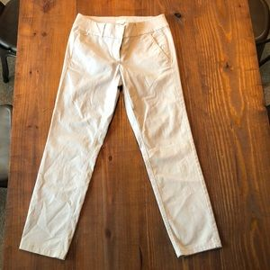 Size 0 LOFT skinny cropped chinos.